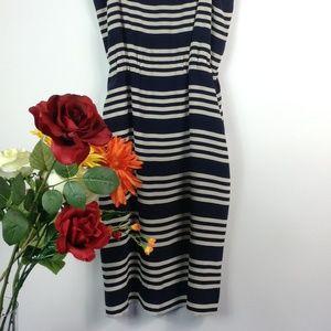 J. Crew Blouson dress in stripe
